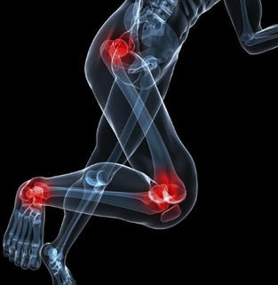 foot knee and hip+pain